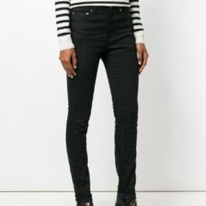 SAINT LAURENT D05 Black Skinny Jeans